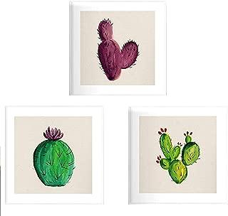 Pack de Tres láminas de Cactus. Posters Cuadrados con imágenes Estampadas. Dale un Toque Verde a tu hogar. Láminas de Cactus para enmarcar. Papel 250 Gramos