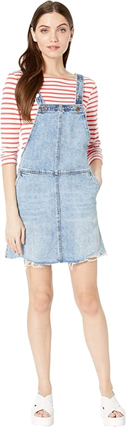 Denim Shortall Dress in Blow The Bag