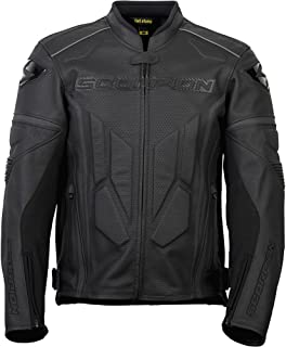 Scorpion Clutch - NEW 2015 Leather Motorcycle Jacket - Phantom Black - XL
