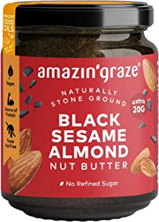 Amazin' Graze Black Sesame Butter, Almond, 180 g