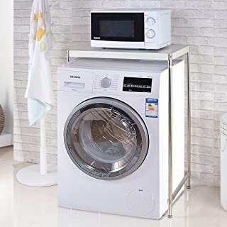 Étagères de rangement en métal pour organisateur de machine à laver, étagères de rangement en acier inoxydable pour four à...