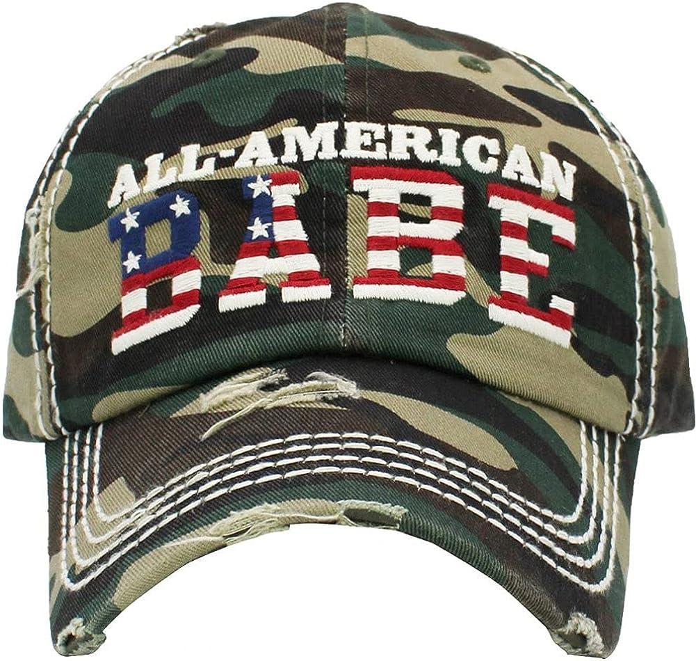 KBETHOS Hats American Babe USA Women's Baseball Hat