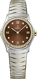 EBEL Ladies 1216464A Sport Classic 18K Gold & Steel Swiss Quartz Watch