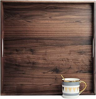 22 * 15 Large Wooden Tray for Home for Restaurant Tea Serving Tray Square Serving Tray Wooden Bed Tray Square Tray Wooden Trays Tray for Coffee Table