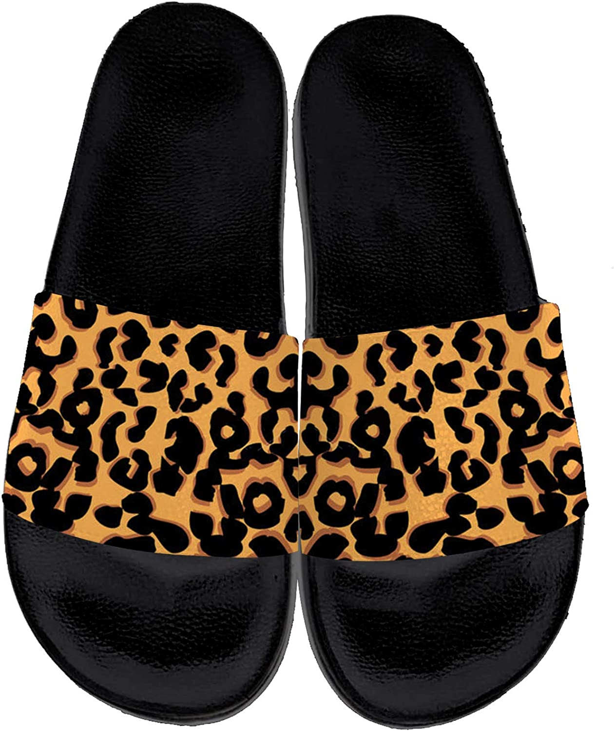 Leopard Print Slides Womens Mens Casual Slide Sandals Indoor Outdoor Bath Beach Shower Shoes Casual Shoes