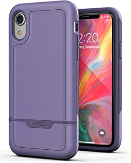 Encased Heavy Duty Case for iPhone XR Purple (2018 Rebel Armor) Military Grade Protective Cover (Full Body Protection)