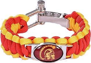 Cincinnati Bearcats Leather Bracelet with Snap Closure 7 to 9