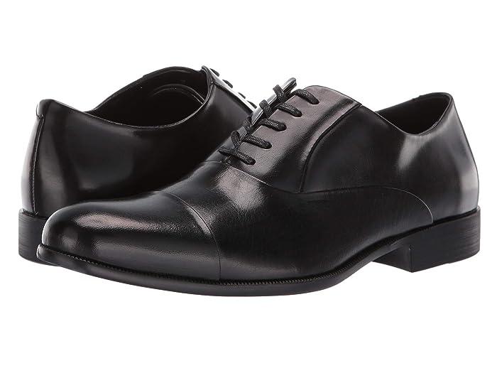 Edwardian Men's Shoes & Boots | 1900, 1910s Kenneth Cole New York Chief Council Black Mens Shoes $79.42 AT vintagedancer.com