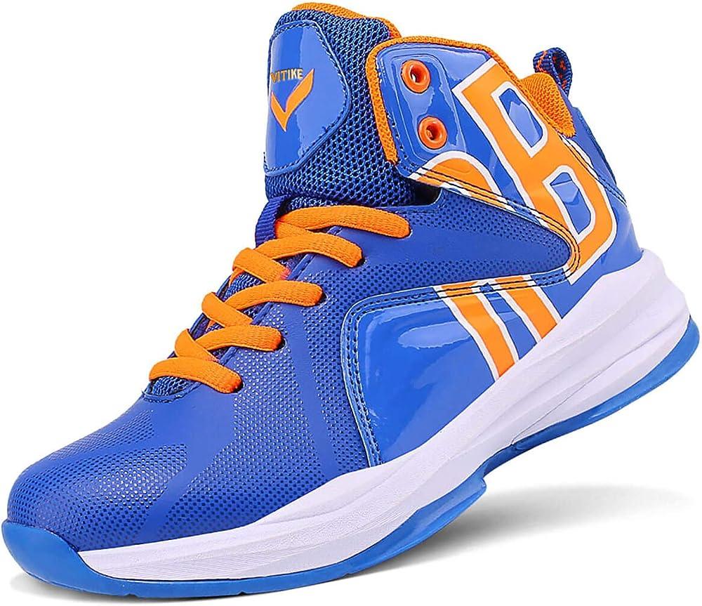 Ashion scarpe da ginnastica da basket sneakers per bambini/ragazzi in pelle sintetica e tessuto 805611