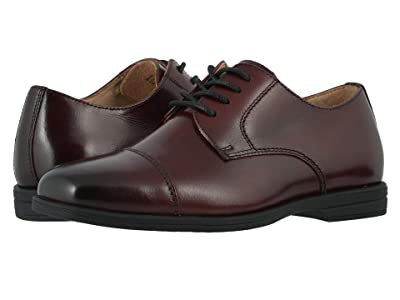 Florsheim Kids Reveal Cap Toe Ox, Jr. (Toddler/Little Kid/Big Kid) (Burgundy) Boys Shoes