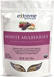 Extreme Health Usa Organic Raw, Sundried Mulberries, 16-Ounce