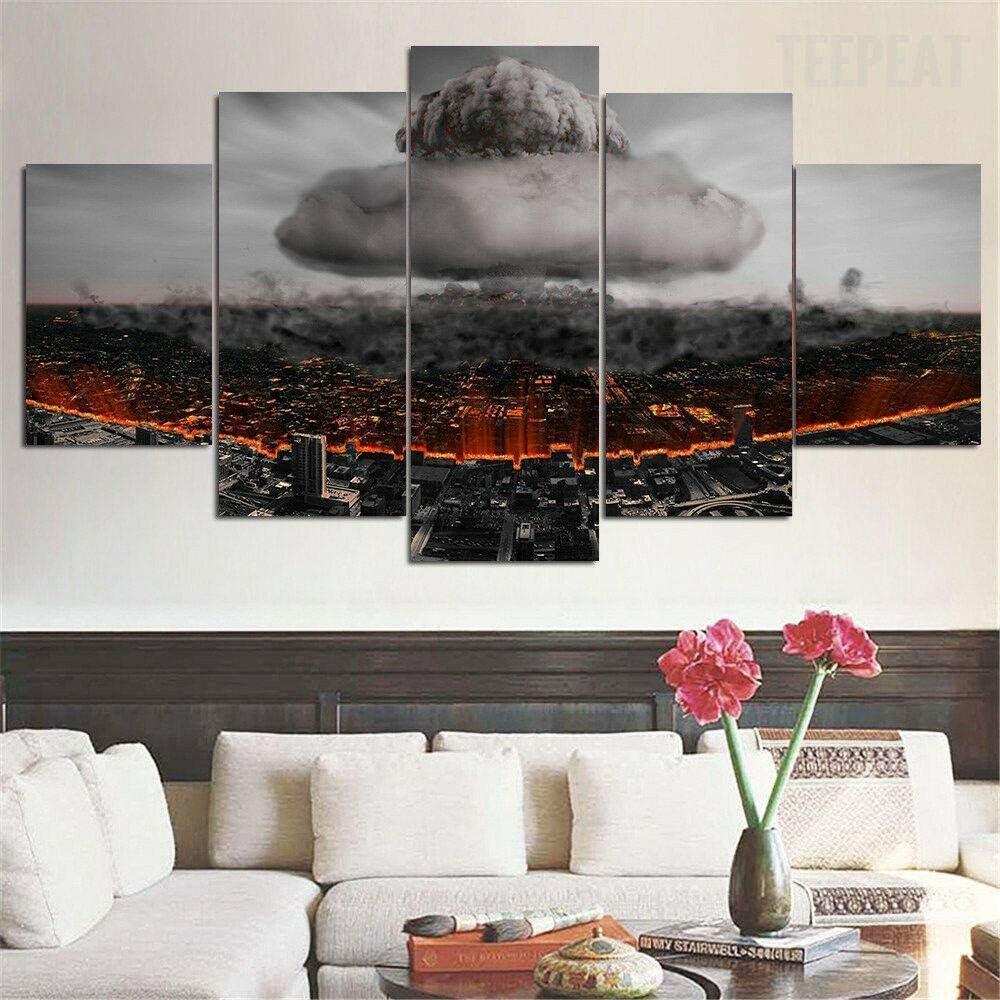 Airxcn Jason Freitag der 13 Horror Scary 5 Panel Leinwand Wandkunst Home Wohnzimmer Dekor Poster HD Print