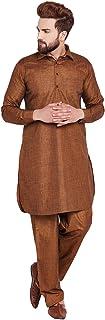 Sojanya Men's Cotton Linen Pathani Kurta Salwar