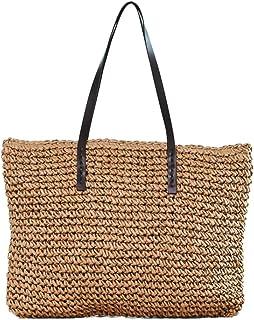 FZChenrry Stroh Tragetasche Große Strand Taschen und Handtaschen Damen Sommer Schultertaschen Handgemacht
