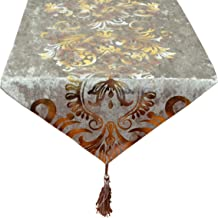 Yingsen New Hot Stamping Contracted Classic Table Runner (13x98 inch, Beige)