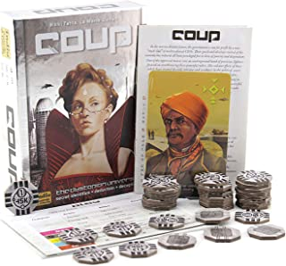 Coup Game Bundle The Resistance Rebellion Card Games Puzzle&Fun Game Indoor Games Board Game Suitable 2-6 Person Full English Version Family Party Essential