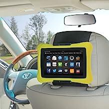 Kindle Car Headrest Mount, WANPOOL Car Headrest Mount Holder Compatible with 7-10 Inch Kindle Fire Tblets, Black
