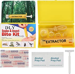 DLY Snake Bite Kit, Bee Sting Kit, Emergency First Aid Supplies, Venom Extractor Suction Pump, Bite and Sting First Aid for Hiking, Backpacking and Camping