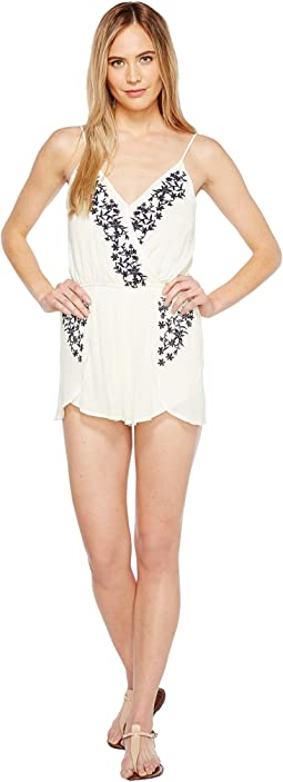 Brigitte Bailey - Lizbeth Spaghetti Strap Embroidered Romper