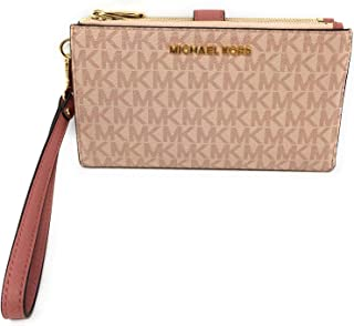 Michael Kors Jet Set Travel Double Zip Wristlet - Signature PVC