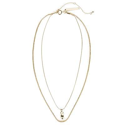 Rebecca Minkoff Multi Strand Necklace (Gold) Necklace