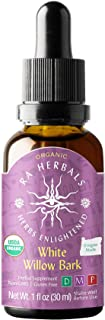Ra Herbals Certified Organic White Willow Bark Liquid Extract for Inflammation Support - 1 Ounce