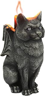 Pacific Giftware Cat Stone Gargoyle Candle Holder Collectible Figurine 5 Inches Tall