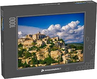 monpuzzlephoto Puzzle 1000 pièces Vue de Gordes, Une Petite Ville médiévale de Provence, France Vue des corniches du Toit ...