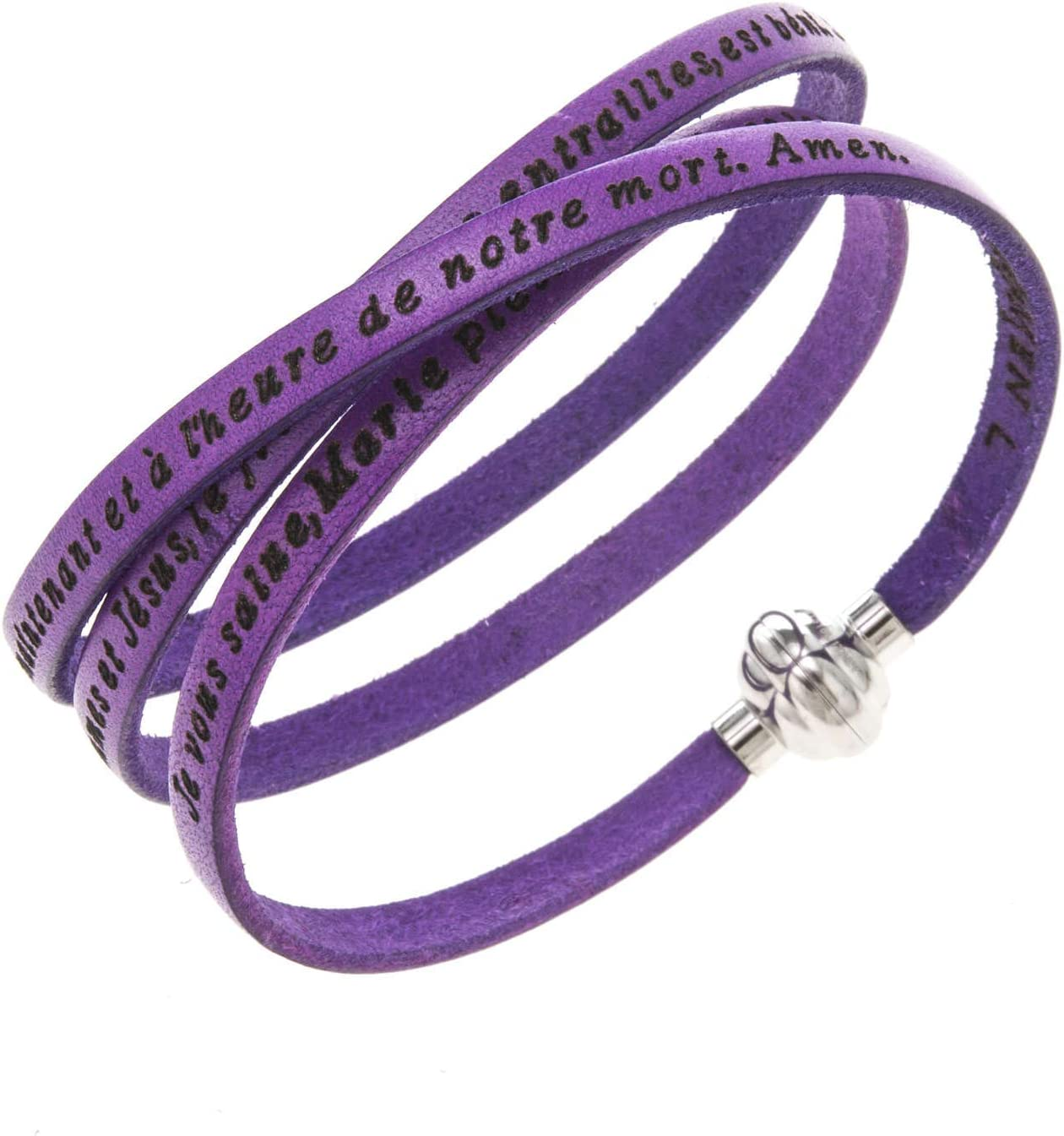 Amen Bracelet in Purple Leather Hail 23.64 inc. FRA cm 60 Max Import 86% OFF Mary