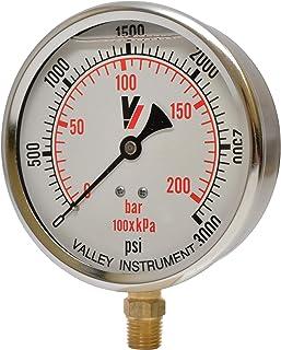 Valley Instrument Grade B Back Mount 2in 0-30 PSI Dry Gauge