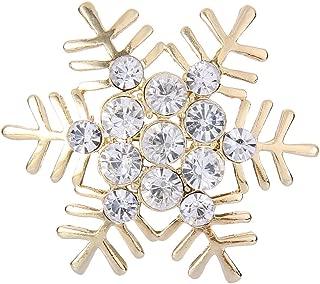 Austrian Crystal Winter Snowflake Flower Brooch Pin Clear