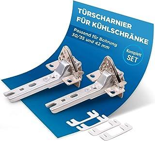 Lot de 2 charnières de porte de rechange pour Siemens Bosch 00268698 268698 Miele 2285121 compatible avec divers réfrigéra...