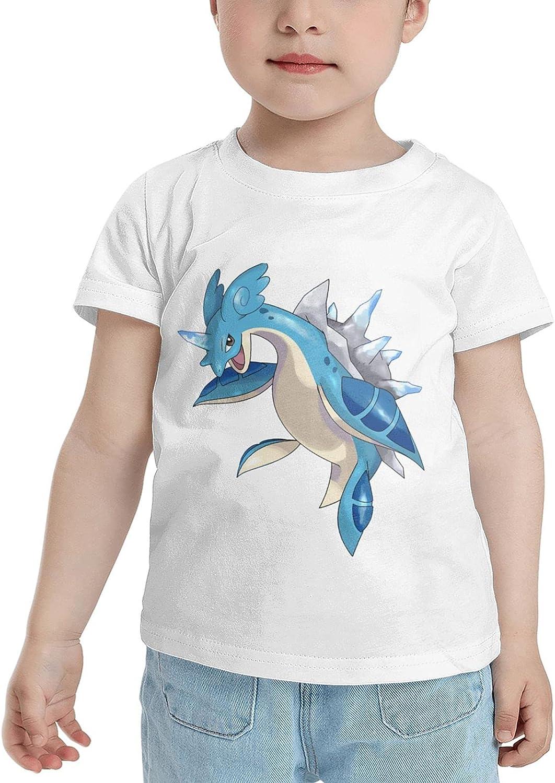 Poke Lapras T Shirt Girl Child Shirts Classic Short Sleeve Tops Tees Tshirts for Boy Girl's Boy's