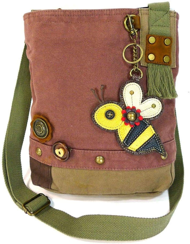 Chala Patch Crossbody Bag Canvas gift Mauve Purple purple BUMBLE BEE Coin purse