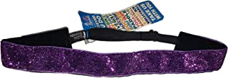 Bani Bands Girls Non-Slip Adjustable Glitter 1 Inch Headbands Adjustable Purple Sparkle