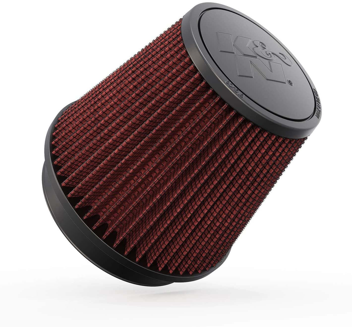 K&N Universal Clamp-On Air Filter: High Performance, Premium, Washable, Replacement Engine Filter: Flange Diameter: 5 In, Filter Height: 5.5 In, Flange Length: 1 In, Shape: Round Tapered, RU-5147