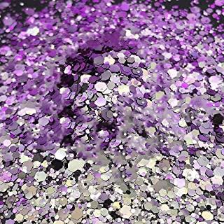 Color Shift - Chunky Cosmetic Glitter ✮ Festival Rave Beauty Makeup Face Body Nail ✮ (Lilac/Purple)