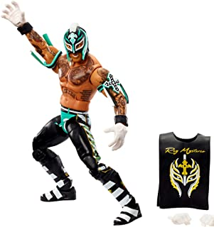 WWE Rey Mysterio Elite Collection Action Figure with Realistic Facial Detailing, Iconic Ring Gear & Accessories