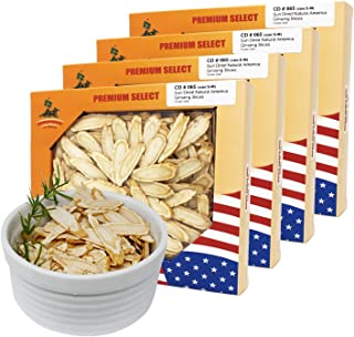 DOL American Ginseng Slice 4oz/Box(4Boxs) from Wisconsin 花旗参片/西洋参片 (Sliced Ginseng Root)113g/Box