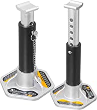 Torin AT43004B Aluminum Jack Stands with Locking Support Pins: 3 Ton (6,000 lb) Capacity, Black/Silver, 1 Pair