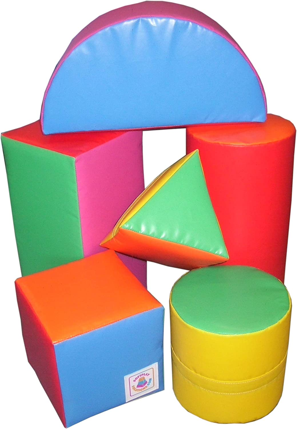 Soft Play Set of 6 shapes (set 3)   610gsm PVC   High Density Foam   Toddlers   Nurseries   Schools   Early Development