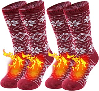 Warm Thermal Socks, Sunew Heavy Weight Thermal Socks, Winter Fur Lined Thick Insulated Heated Boot Socks for Cold Weather,...
