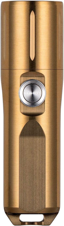 Rechargeable Keychain Light with Moonlight//Memory Mode,IP68 Water Resistent RovyVon Aurora A29 Brass EDC Flashlight 1000 Lumens Cree XP-G3 LED Flashlight