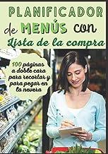 Planificador de menús con lista de la compra: Planificador de Comidas Para Organizar y Planificar Todos las Comidas Famili...