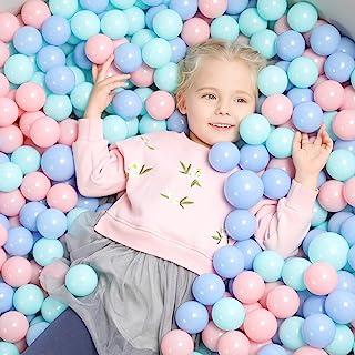 TRENDBOX 100 Macaron Ocean Ball (Ship from USA) for Babies Kids Children Soft Plastic Birthday Parties Events Playground G...