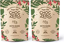 ChocZero's Keto Bark, Dark Chocolate Hazelnuts with Sea Salt. Sugar Free, Low Carb. No Sugar Alcohols, No Artificial Sweeteners, All Natural, Non-GMO (2 bags, 6 servings/each)