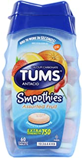 Tums Smooth Assort Fruit Size 60ct Tums Assorted Fruit Smoothies Calcium Tablets