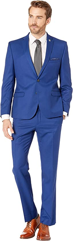 Blue Pindot Suit