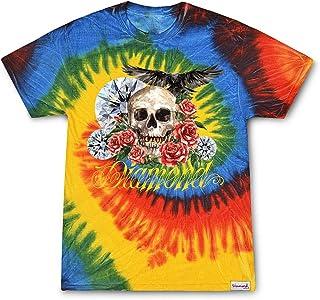 Diamond Supply Co. Men's Skull and Crown Tie Dye Short Sleeve T Shirt Multi-Color 2XL