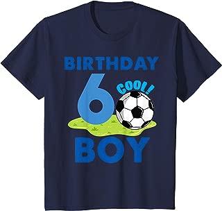Kids 6th Birthday Gift Idea Boys Soccer 6 Years T-Shirt
